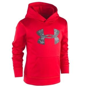 UNDER ARMOUR BOYS SIZE 4 ABSTRACT LOGO SWEATER